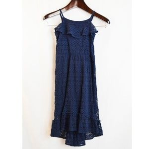 The Childrens Place Navy Lace Spaghetti Strap Ruff